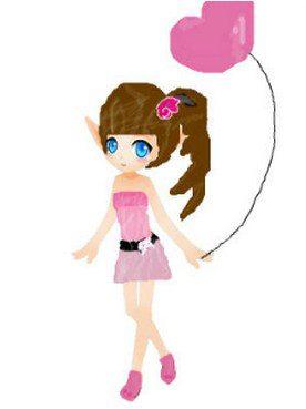 配上一个粉色爱心气球,这不就是可爱小公主的幻想服装么?