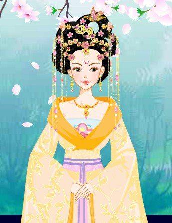 后宫妃子手绘图片古装